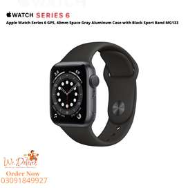 New Apple Watch Series 6 (GPS, 40mm) - Space Gray Aluminum Case MG133