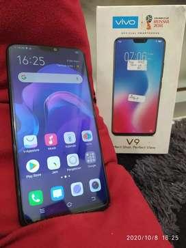 VIVO V9 Warna BLACK 4/64Gb LIKE NEW FULLSET