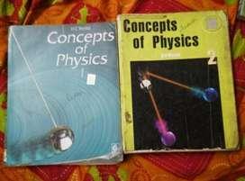 HC VERMA PHYSICS FOR IIT-JEE & NEETbooks. Vol- 1 & 2
