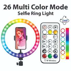 SPEED-X 26CM 26COLOR RGB RING LIGHT WITH REMOTE