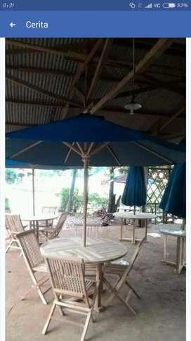 Meja payung cafe,vila,resto,taman,tempat wisata,katin,vila,oitdoor