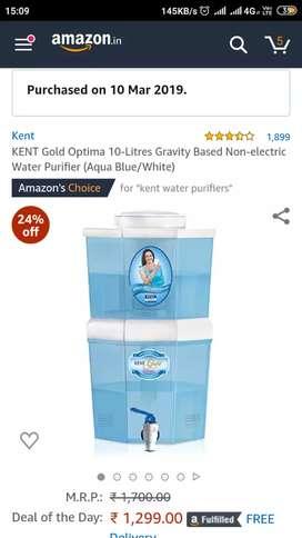 10 leter Water fiter Kent