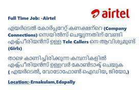 Looking Experienced Tele Sales Staff for Airtel