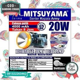 COD Senter Kepala Head Lamp HeadlampCharge 20 Watt MS159P Camping