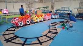 BT jual wahana mainan anak kereta mini coaster full lampu hias