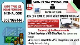 Secure and safe job hiring part time data entry
