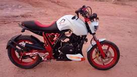 Fully modified discover 125 cc supereb sports look
