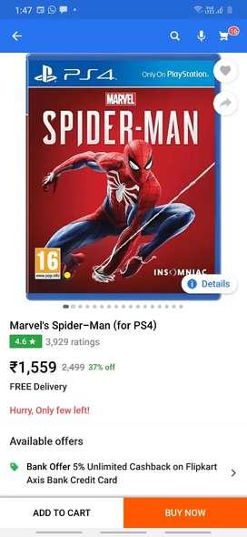 Marvel Spiderman Ps4 disc