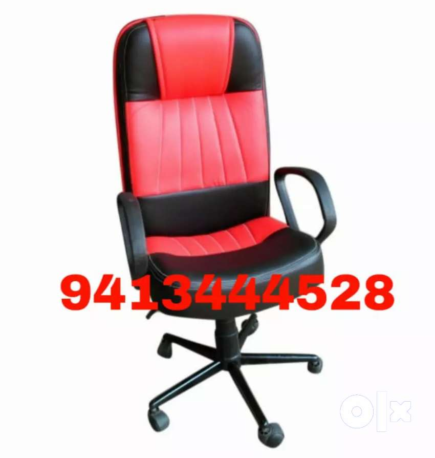 New stylish red black office chair