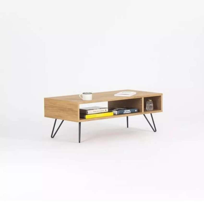 Meja TV, Meja Kopi, Meja Ruang Tamu Minimalis Kayu x Hairpin