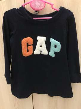 Dress lengan panjang baby GAP size 18-24bulan