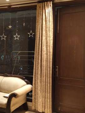 14 pcs full length golden brown curtains