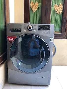 mesin cuci otomatis merk LG masih baru