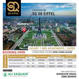 ONE BED APARTMENT FACING EIFFEL TOWER BAHRIA TOWN