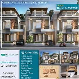 Townhouse 2,5 Lantai Pertama di Jogja Barat, Konsep Sky Garden