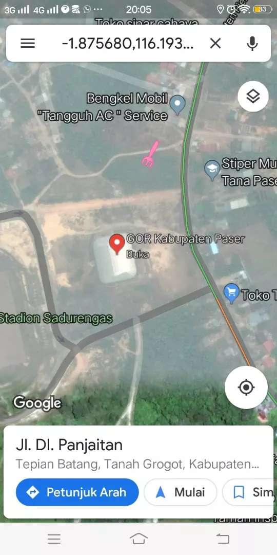 Olx Grogot, Dijual Murah Tanah 15x30M², harga Nego 0