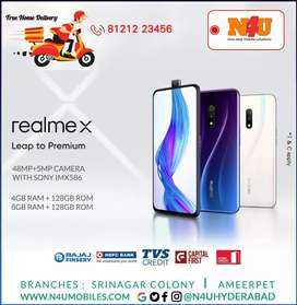 REALME X Smartphone now available on emi at N4U ameerpet