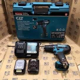 Mesin Bor Besi Cordless MAKITA DF333 DWYE 2 Baterai - DF 331 Drill