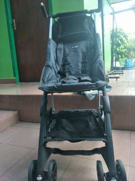 Stroller pockit warna denim