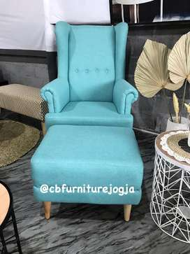 Sofaa  Wing Chair +  Puff  ..