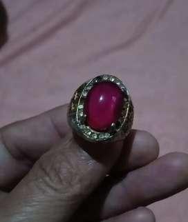 Cincin batu akik merah siyam