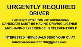 DRIVER (DHA LAHORE)