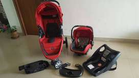Britax Bagile Red And Black Travel System