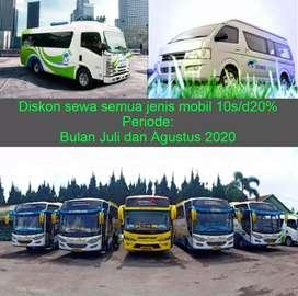 Diskon 10% Sewa Mobil Hiace Medium bus Elf dan Innova