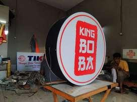 neonbox diameter 60cm KING BOBA es kopi susu cokelat