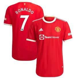 Manchester United Home Authentic Shirt 2021-22 with Ronaldo 7 printing
