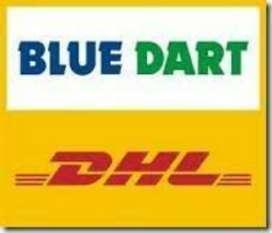 A blue dart job field boy