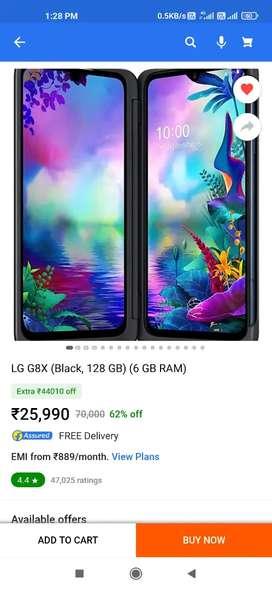 Brand new LG G8X Dual Screen Black 128gb only 19999