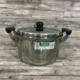 Double Handle Pot Horse Brand 28cm