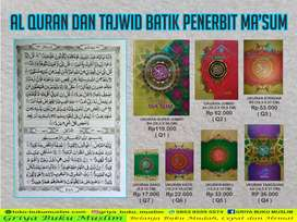 Al Quran Ma'sum Batik Murah Non Terjemah Cocok Untuk Wakaf