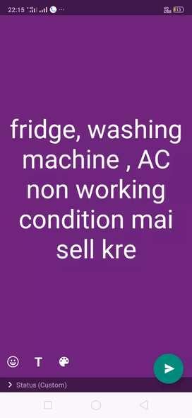 fridge , washing machine , AC beke