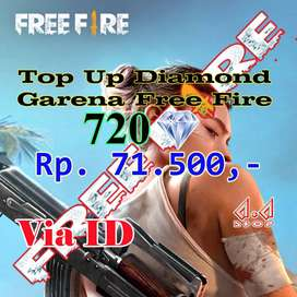 TOP UP GARENA FREE FIRE 720 DM