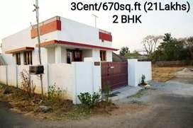 2 BHK villa for just 21 lakhs at Kanjikode in Sahyadri gated community