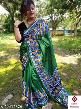 High quality Pure cotton molmol Saree