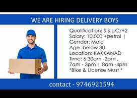 Delivery work