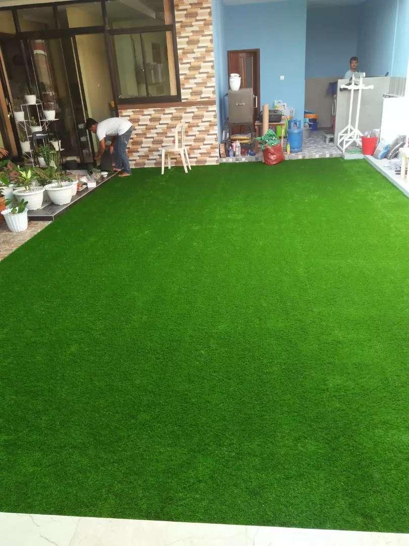 Rumput sintetis karpet Plastik Taman