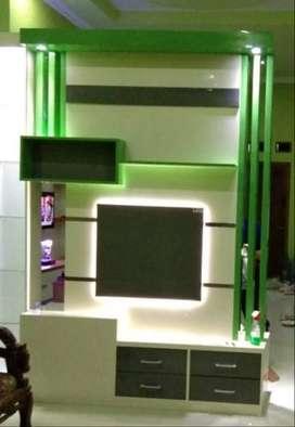 backdrop tv kitchen set buffet lemari almari furniture HPL OKT