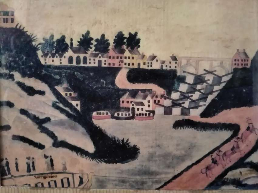 lukisan eropa Tn / Ny.dan kereta kuda lawas.
