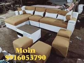 Corner sofa set branded color unique 3 years warranty g 11