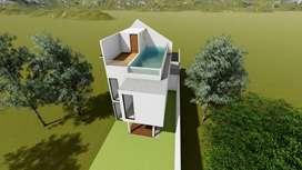 Rumah 2 Lantai Semi Villa Tropis dago Tipe Akasia