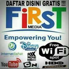 First Media internet wifi & Tv cable HD Firstmedia promo Sidoarjo