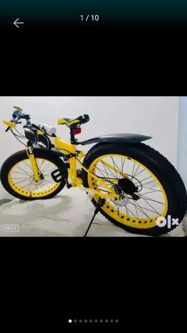 fat folding cycle with 21  shimano gears