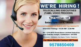 We are hiring Telecallers for coimbatore