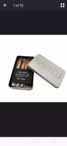 Naked 3 make up brushes eyes shadow  lips brush set makeup tools