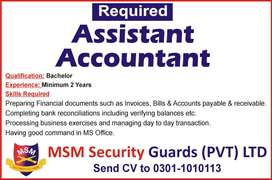 Urgently required Assistant Accountant