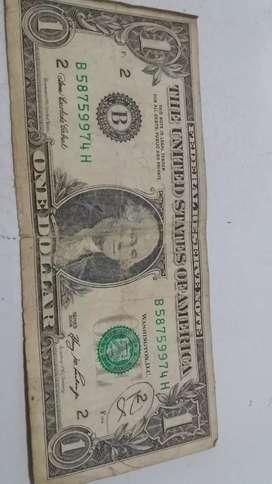Uang lama 1 DOLLAR th 2006